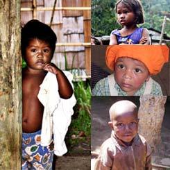 Hilfsbeduerftige Kinder in Not